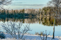 Tävelsåssjön i vinterskrud